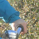 Die Ärmel sind lang genug auch fürs Radfahren