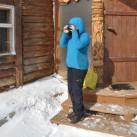 Mollig warm auch beim Fotografieren und die Kapuze sitzt