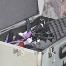 Ein Koffer voller Testgeräte