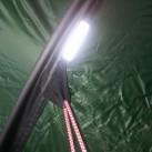 Zahlreiche Reflektorelemente sorgen für gutes Gesehenwerden