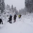 Ob aktiv beim Schneeschuhgehen...