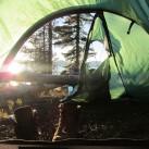 Perfekter Zelt-Ausblick