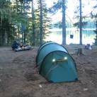 Trotz imposanter Zelt-Länge: Die Natur ist groß genug, ein Zeltplatz findet sich immer!