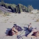 ...mit einer Mittagspause in den Reibungsplatten des Corno di Bo am Gardasee...