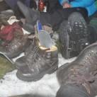 Doch nach der Neubesohlung konnte es weiter durch den Winter gehen - immer trockenen Fußes