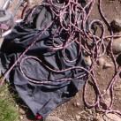 Seile, transportiert im Seilsack sind gut geschützt,