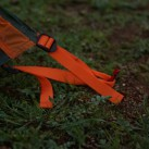 Orange Farberkennung, spannbare Schlaufen und roter Hering mit Wiedererkennungswert
