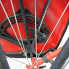 Ortlieb Back-Roller Classic - Fixierung am unteren Teil des Gepäckträgers