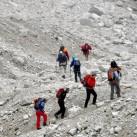 Zustieg durch Geröll und Stein in der Brenta
