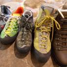 mit allen Schuhen kann man gut auf den Klettersteigen unterwegs sein