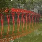 Reisebericht Vietnam - Die Hoc Brücke in Hanoi