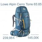 Cerro Torre 65:85 von Lowe Alpine; den Klassiker gibt es auch in der Frauenvariante zum Testen