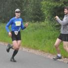 Lange Zeit auf dem zweiten Platz: Kai-Uwe von den Elbtalflitzer auf der 3. Etappe über den Auersberg (für ihn ein besonderer Lauf)