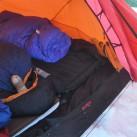 Lüften auf Tour: ausgebreitet im Zelt