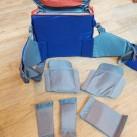 rotation180° Panorama: Viele Möglichkeiten, die Hüfttasche zu unterteilen (Klett-Pads)