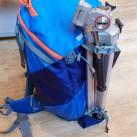 rotation180° Panorama: Stativ kann einfach und schnell außen am Rucksack befestigt werden