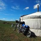 Mit dem Rad durch die Steppen in der Mongolei