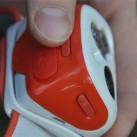 Stirnlampe Petzl Tikka RXP: taktil auch gut unterscheidbare Bedienelemente (funktioniert auch mit Handschuhen)