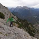Immer an der Wand entlang: Auf dem Karwendelsteig