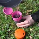 Light my fire Pack-up-Cup: Falttasse, auch für Heißgetränke