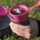 Mein Tipp für den Light my fire Pack-up-Cup: Nicht zu voll gießen, dann passiert auch nichts beim Anheben