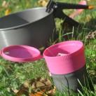Light my fire Pack-up-Cup: Steht, aber man muss aufpassen, wohin man ihn stellt.