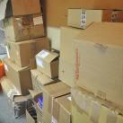 ...ausgepackt und verteilt zu werden.