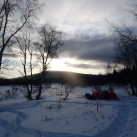 Es kann kalt werden im Winter in Östersund