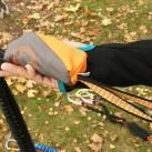 Skylotec Klettersteigset: Bandfalldämpfer und Anseilschlaufe