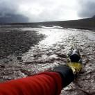 Tragen oder Ziehen - Beides war auf der Arktisexpedition 2004 im Spitzbergen Schwerstarbeit