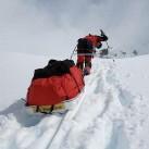 Oft zog es Olaf auch ins Eis: Patagonien - Expeditionen auf dem Inlandeis 2009: Schwerstarbeit Pulkaziehen