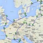 7700 km durch Europa - die Route