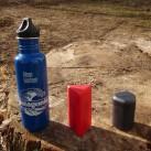Klean Kanteen Flasche, Pocket und Micro Rocket im Größenvergleich