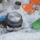 Kocher Polaris Optimus: Einsatz im Schnee