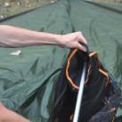 Nigor Wicki-Up 4 - Einführen der Zeltstange