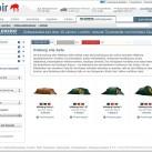 Screenshot: Zeltfinder
