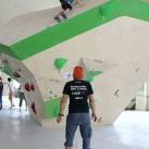Sächsische Landesmeisterschaften Bouldern 2015 im SüdBloc: Der Trainer muss alles ganz genau beobachten