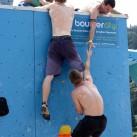 Elbsandsandsteinbouldercup 2015: Mannschaftswettkampf - der Westbloc in der Boulderbaustelle