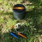 GSI Outdoors Pinnacle Dualist: Ohne Kocher und Besteck schließt alles zuverlässig ab