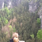 Annegret in der Sächsischen Schweiz
