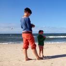 Auch am Strand macht Fritzi ein gute Figur