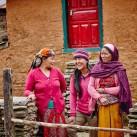Dankbare Bewohner und Sherpa Mitarbeiter