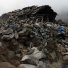 Die Trümmer nach den Beben