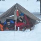 Schlafen im Schnee unterm Tarp in Thüringen (2012)