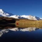 Unna: Traumzelt in traumhafter Umgebung, hier unterhalb des Kang Yaze (6400 Meter) auf rund 4700 Meter Höhe am Ende des Markha Tales