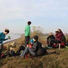 Die Meer-Aussicht auf der Tour, kurz vor Rerik und perfekt für eine Pause nach mehr als 20 km Rucksacktragen