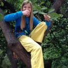 Gehört zum klettern mit dazu: Im Baum sitzen und es sich schmecken lassen!
