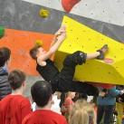 Das ist sie - die Crux beim Jugendwettkampf  zum 23 Boulder