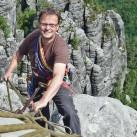 Peter Brunnert kletternd in seiner zweiten Heimat