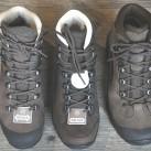 Hanwag bietet Schuhe mit viel Platz generell im Vorfußbereich (Tatra GTX Wide -links) oder mit Platz für alle mit einem Hallux-Problem (Alta Bunion)  - im Vergleich dazu der Banks GTX (rechts)